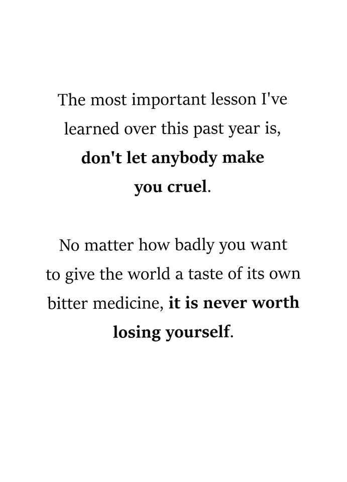 The most important lesson I've learned over this past year is - AhSeeit