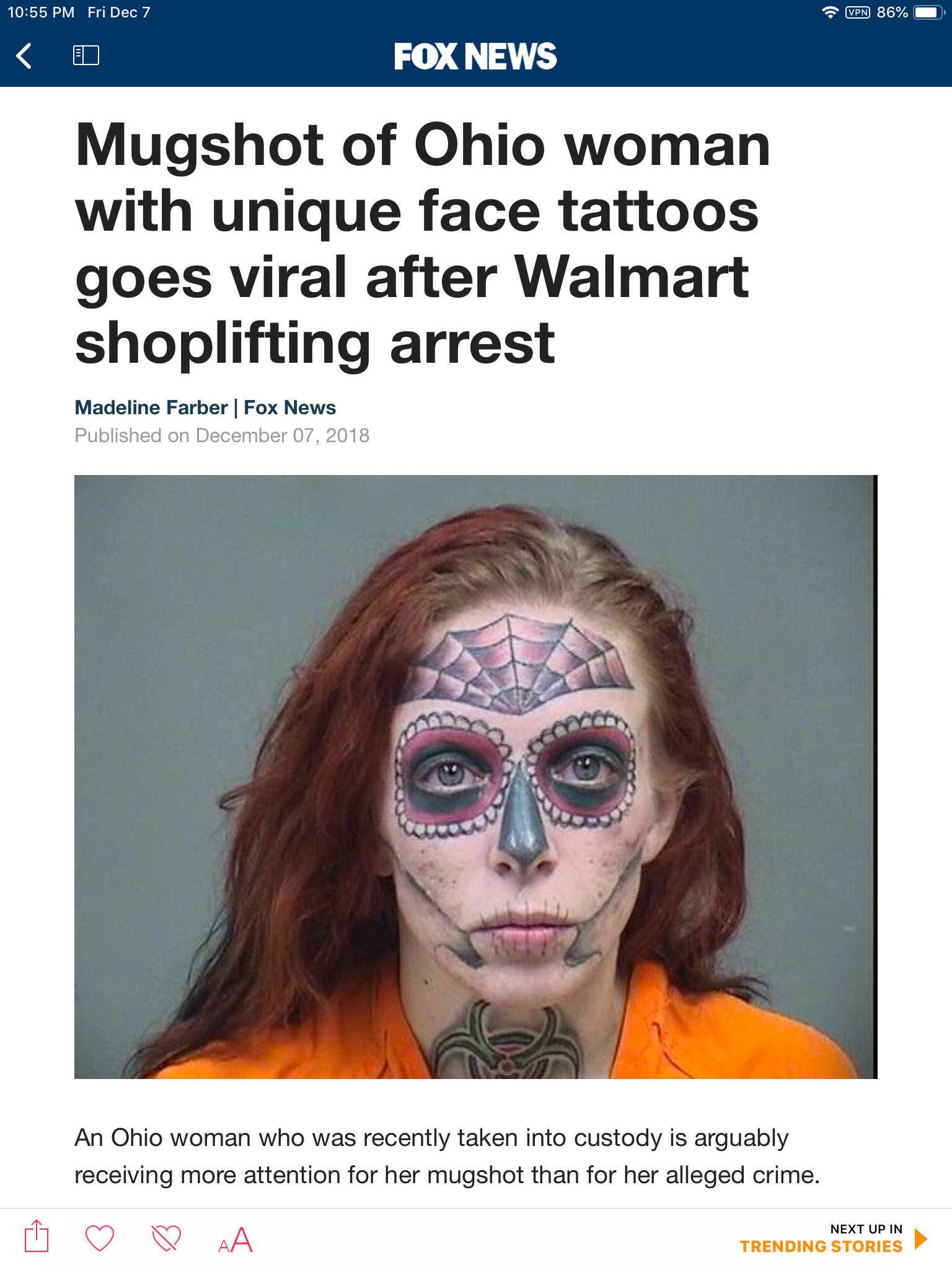 Mugshot Of Ohio Woman With Unique Face Tattoos Goes Viral Ahseeit