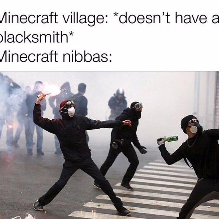 Minecraft village doesn't have a blacksmith Meme - AhSeeit