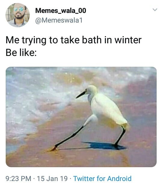 Me Trying To Take Bath In Winter Be Like Meme Ahseeit