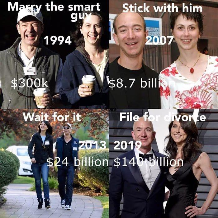 Jeff Bezos Divorce Meme - AhSeeit