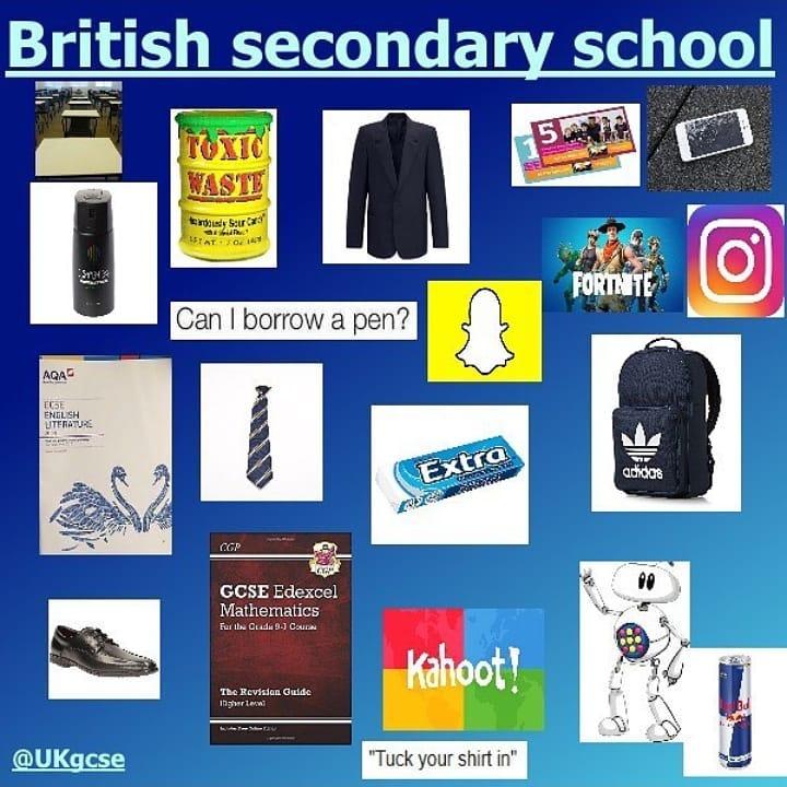 British Secondary School Starter Pack Meme Ahseeit