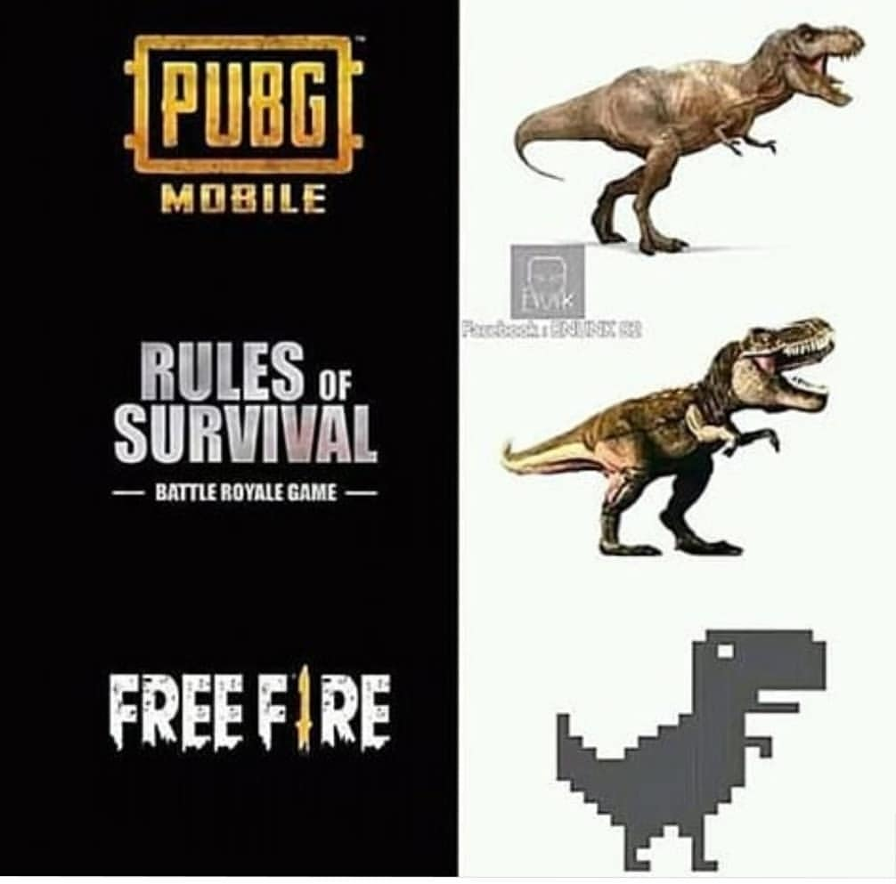 Pubg vs free fire meme