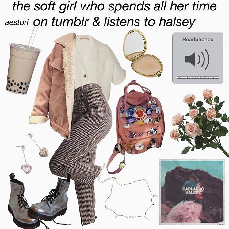 The soft girl starter pack meme , AhSeeit