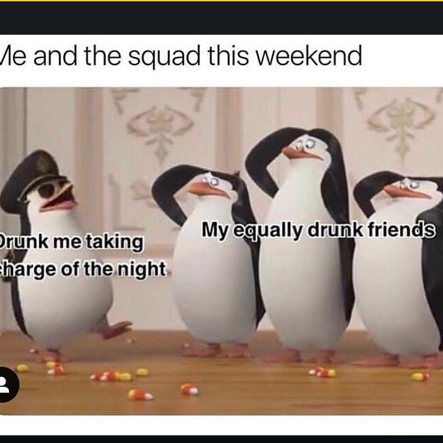 Me and the squad this weekend meme - AhSeeit