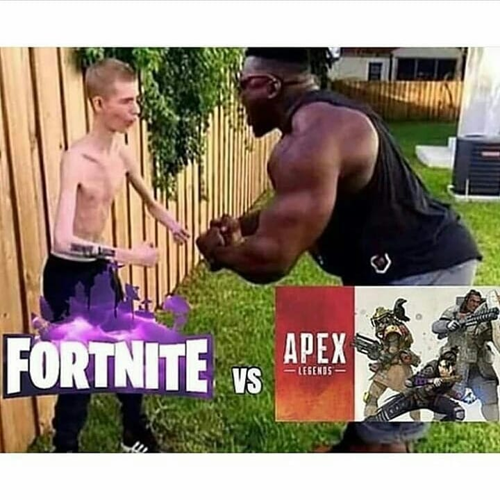 apex legends vs fortnite meme - pubg vs fortnite vs apex legends