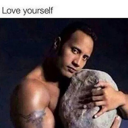 Rock version Love yourself meme - AhSeeit