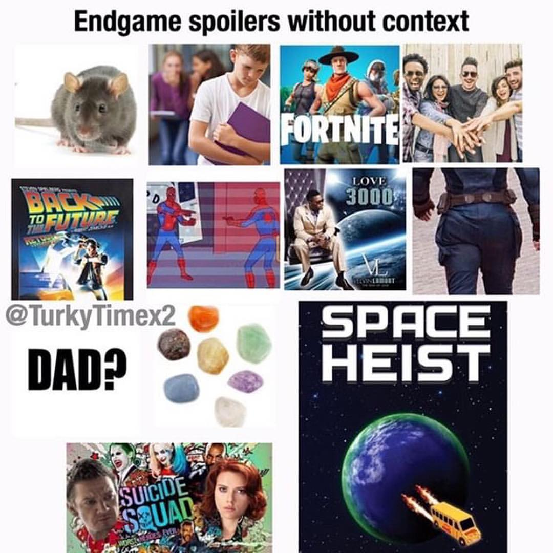 Avengers Endgame Spoilers Without Context Memes Ahseeit