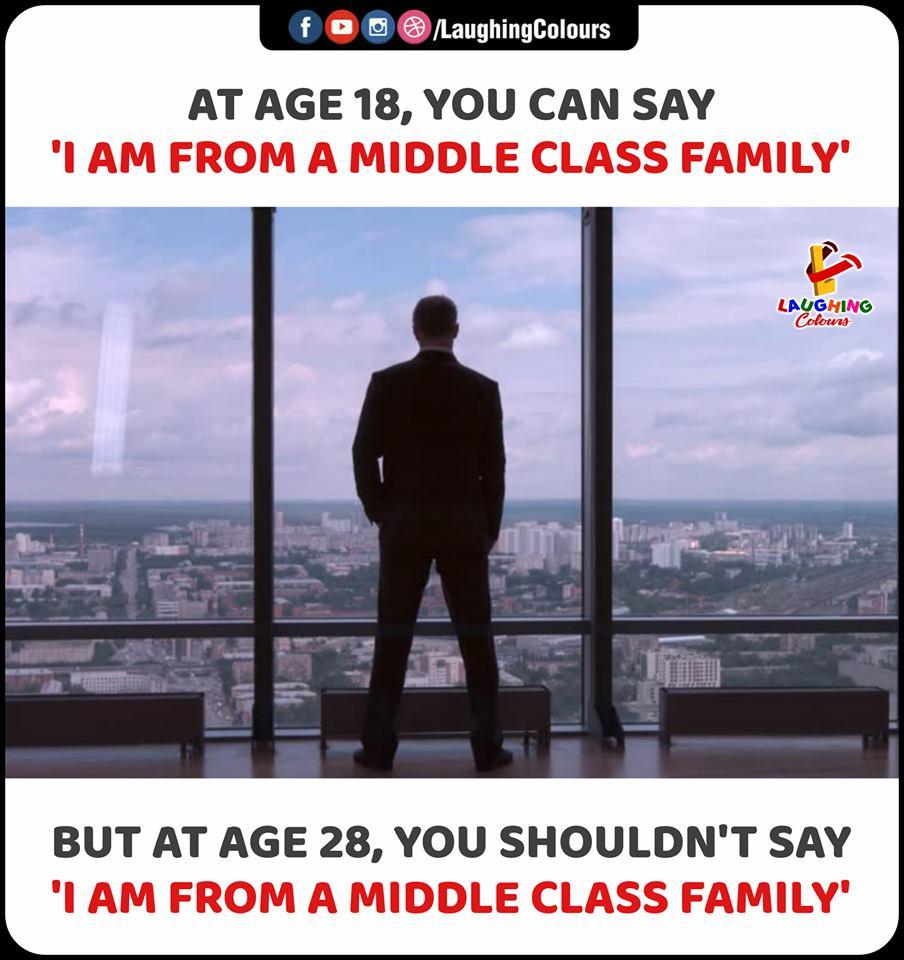 I am form a middle class family meme - AhSeeit