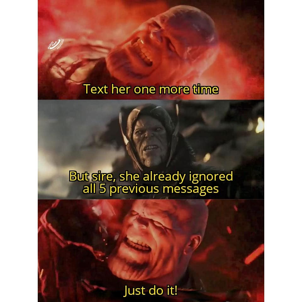 Funniest Thanos Just Do It Meme Ahseeit