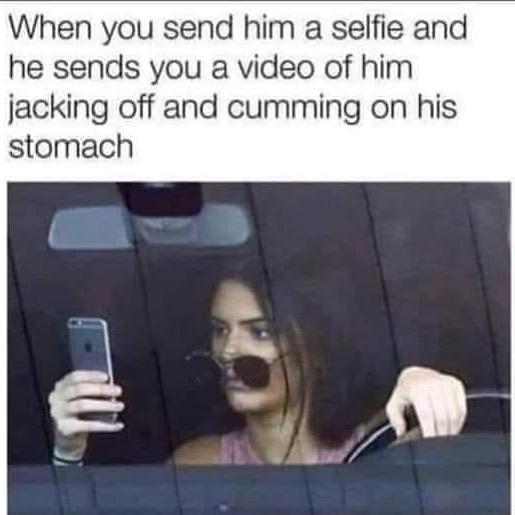 When a guy sends you a selfie