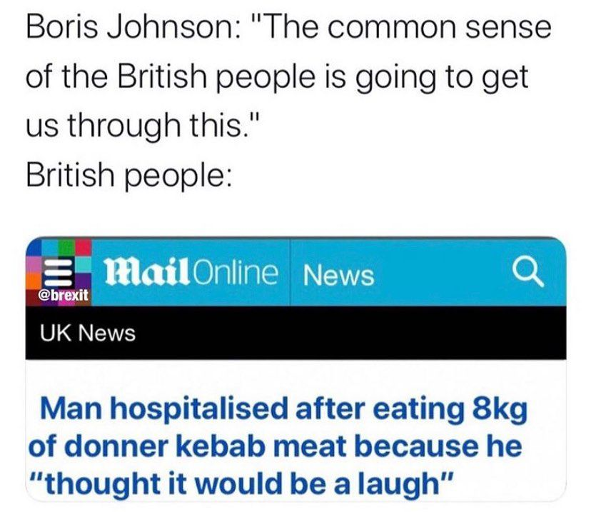 The common sense of the British people is going meme - AhSeeit