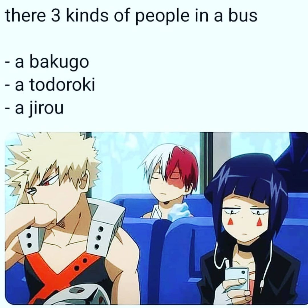 There 20 kinds of people in a bus meme   Anime Memes