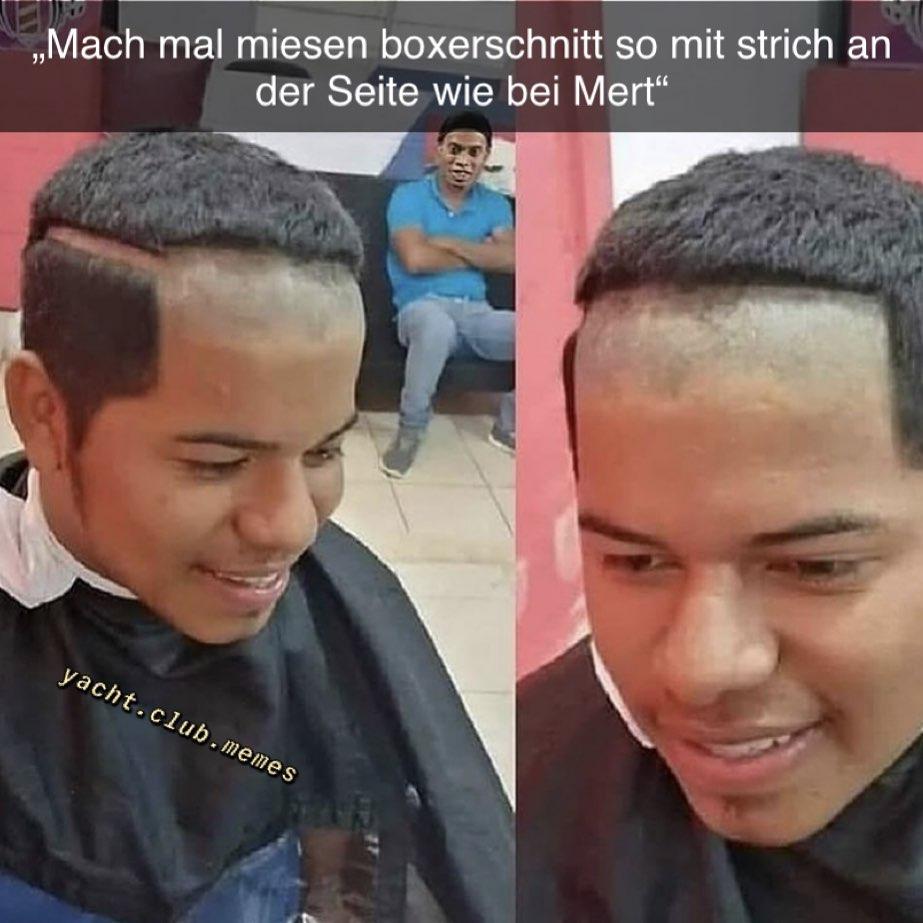 Mit strich boxerschnitt Jungs Haarschnitt