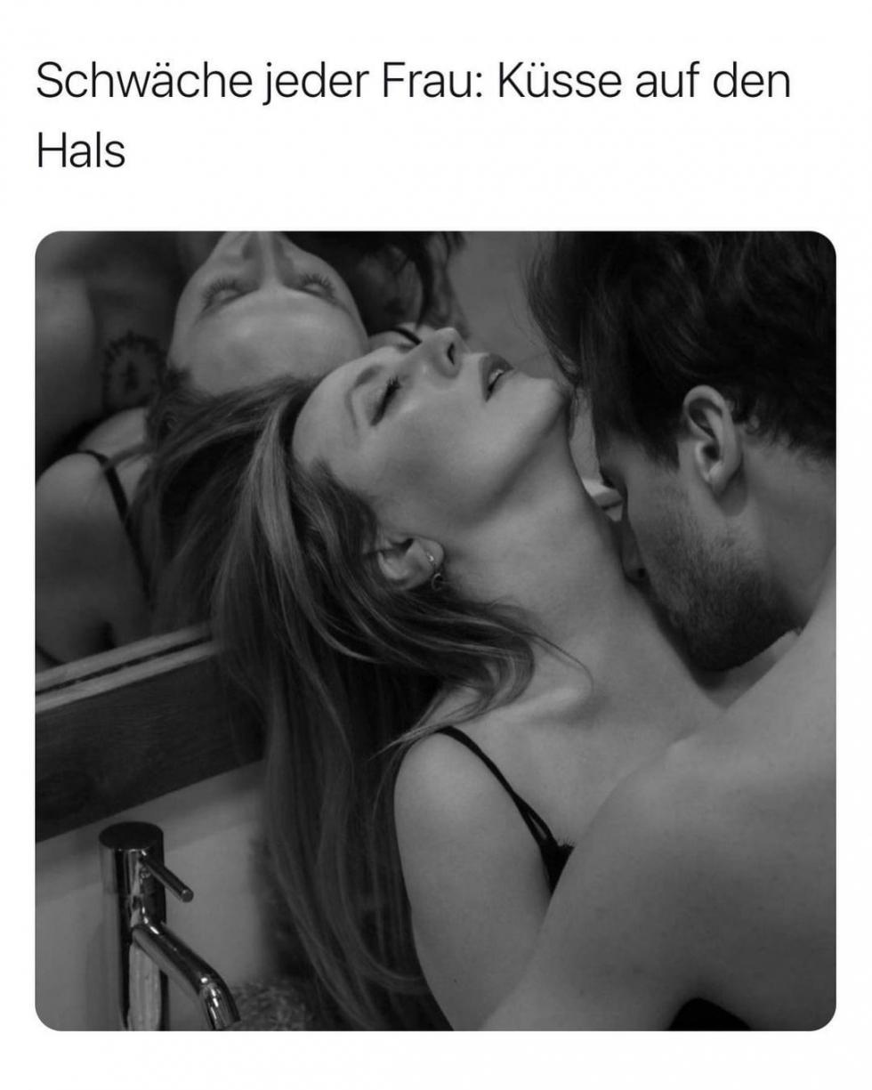 Am hals küssen
