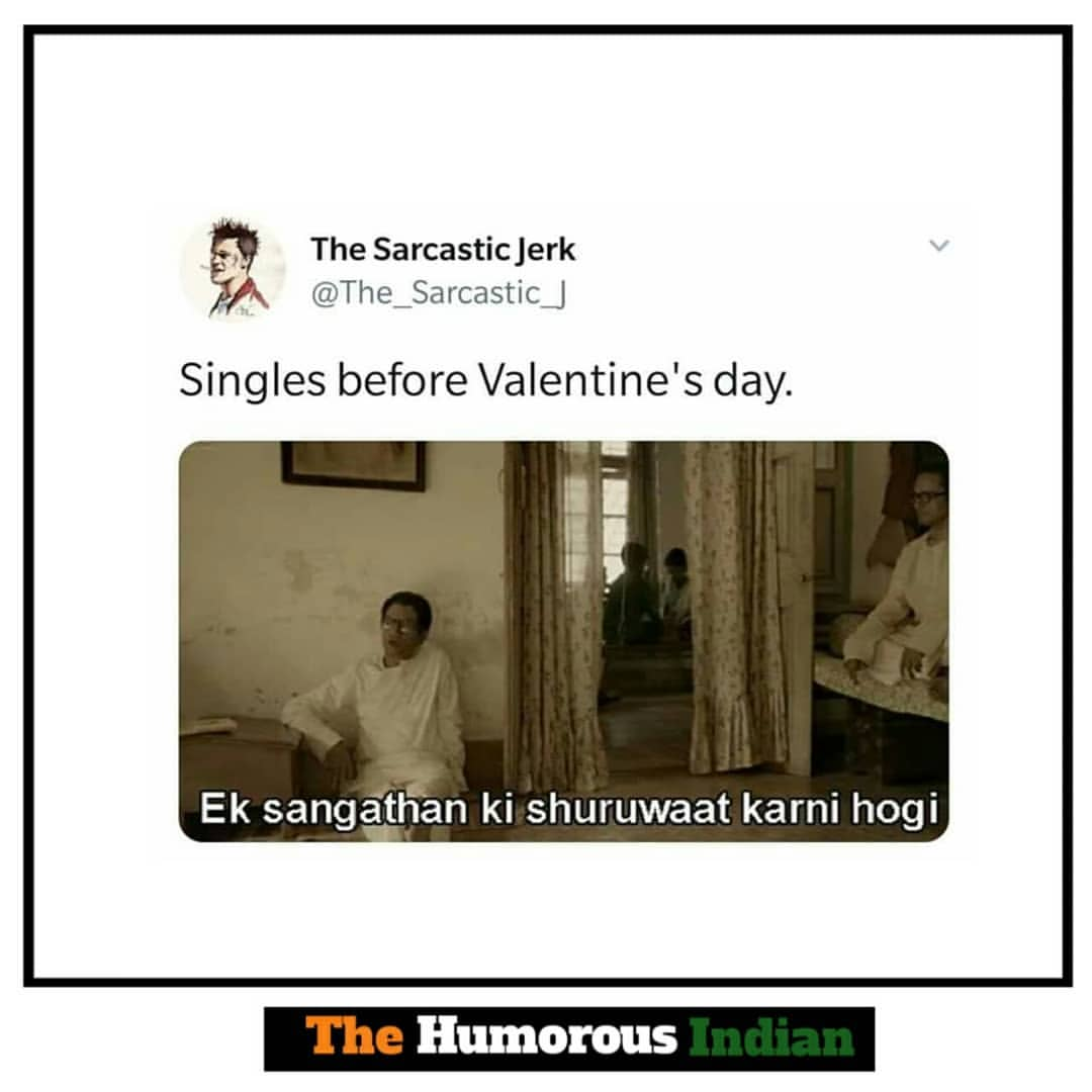 Singles before valentines day meme hindi memes