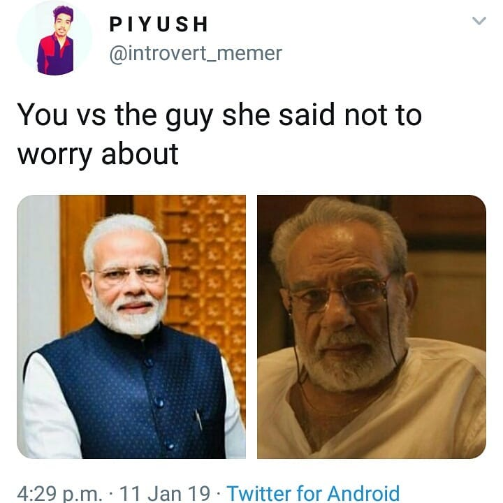 You Vs The Guy She Said Not To Worry About Meme Hindi Memes