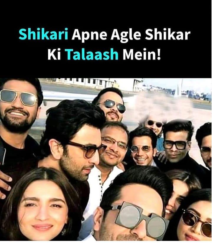 Shikari Apne Agle Shikar ki Talaash mein - Hindi Memes