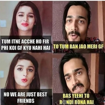 No we are just best friends meme - Hindi Memes