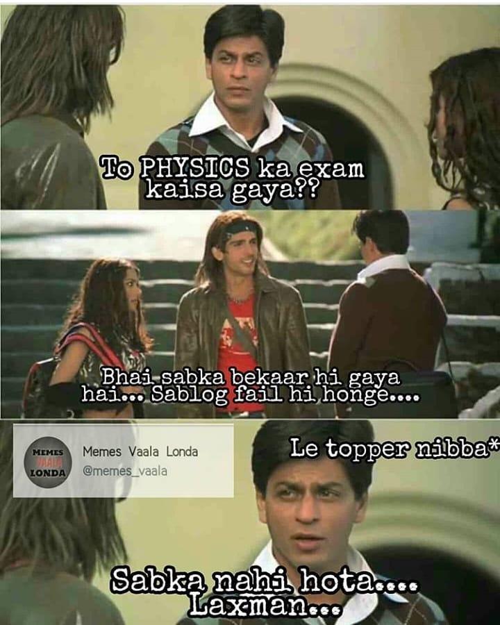 To Physics Ka Exam Kaisa Gaya Meme Hindi Memes