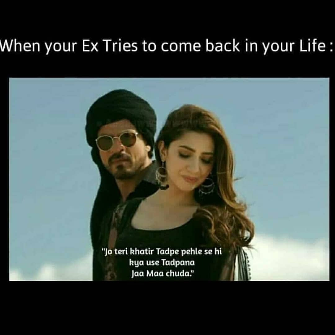 When your ex tries to come back in your life meme - Hindi Memes