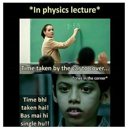 In Physics Lecture Meme Hindi Memes