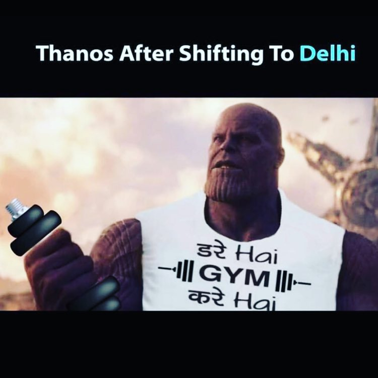 Thanos After Shifting To Delhi Meme Hindi Memes