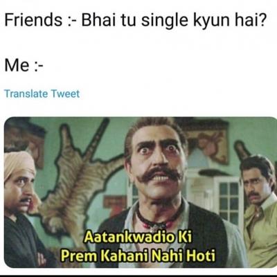 List Of Best Single Hindi Memes