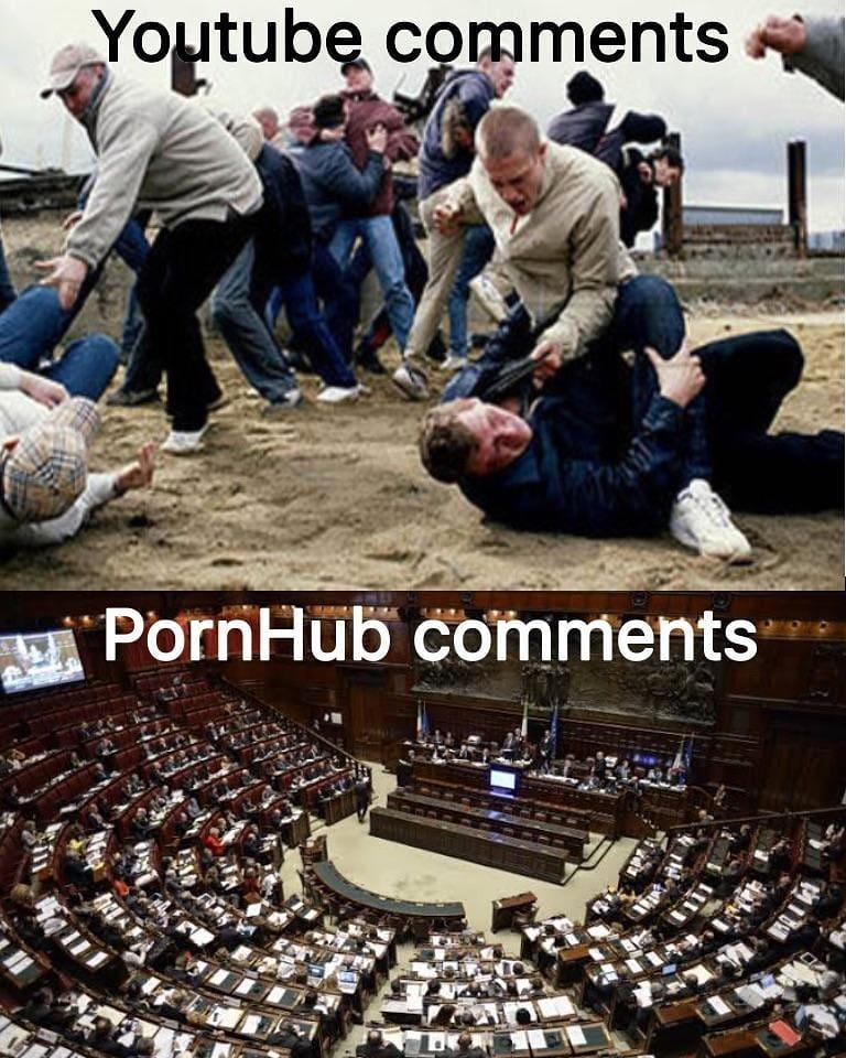 Youtube Comments Vs Pornhub Comments Meme Ahseeit