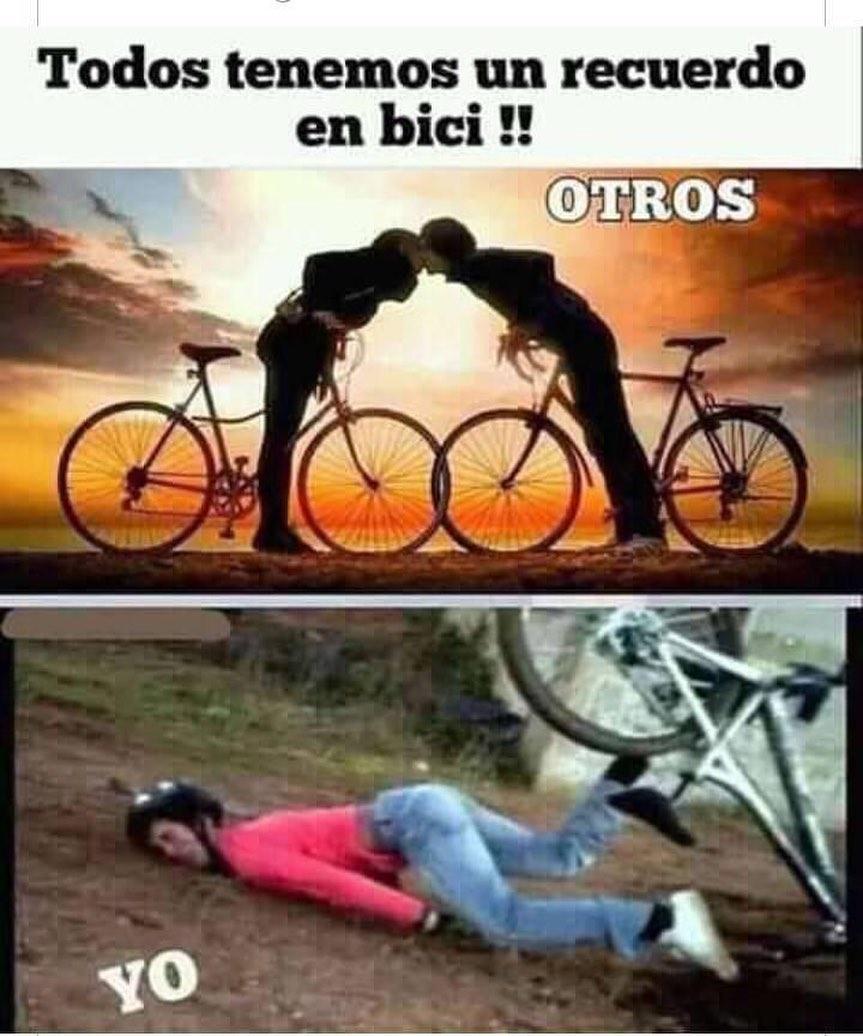 Todos tenemos un recuerdo en bici meme - Espaol Memes