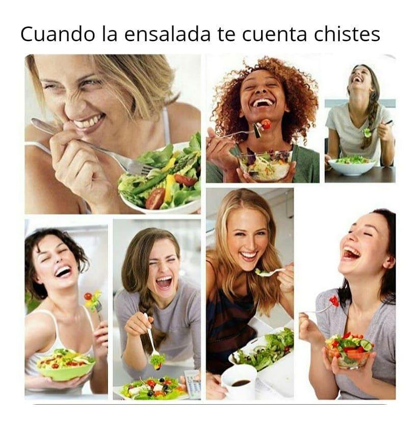 Cuando la ensalada te cuenta chistes meme - Español Memes