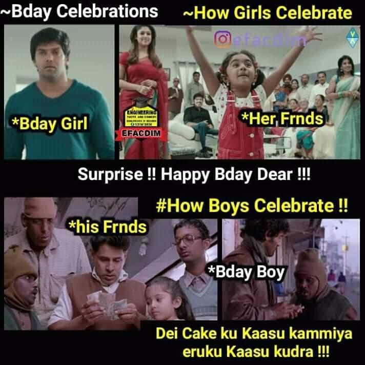 Birthday Celebration Meme Tamil