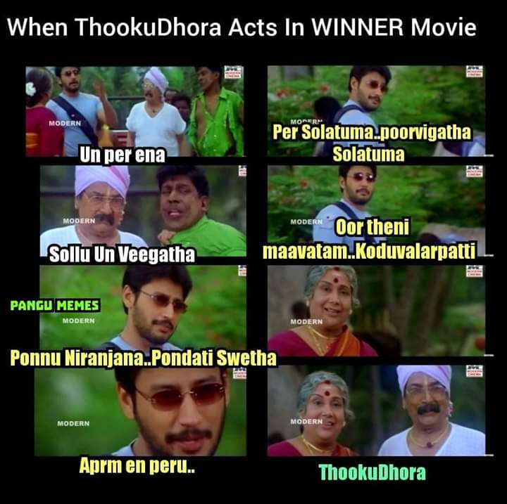 When Thooku Dhora Acts In Winner Movie Tamil Memes