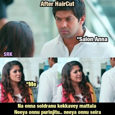 25 Best Salon And Hairstyle Memes Tamil Tamil Memes