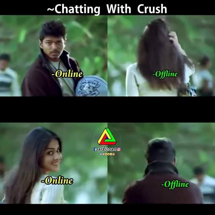 Chatting with crush Memes - Tamil Memes