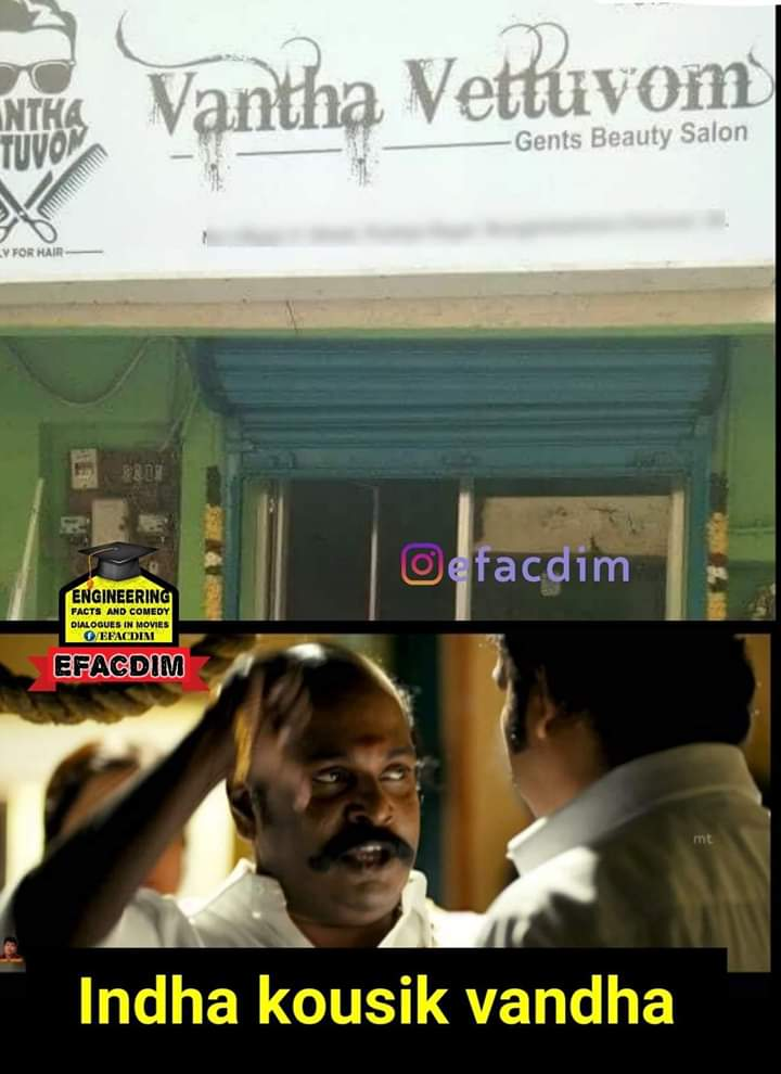 Vantha Vettuvom Funny Salon Store Name Tamil Memes