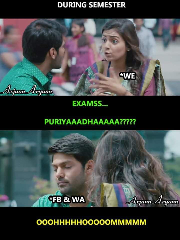 During Semester Time Tamil Memes