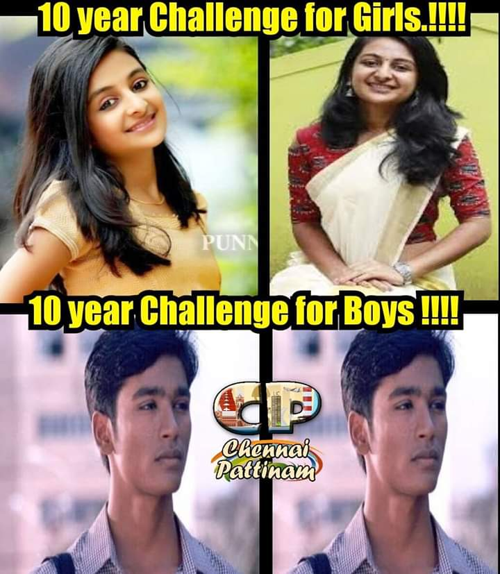 10 years challenge for girls vs 10 years challenge for. Black Bedroom Furniture Sets. Home Design Ideas