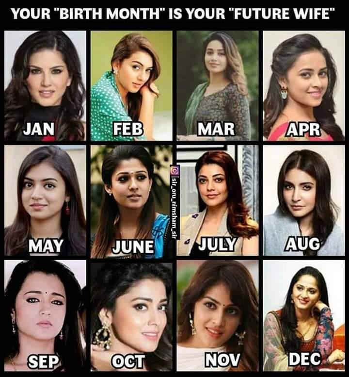 Your birth month is your future wife meme - Tamil Memes