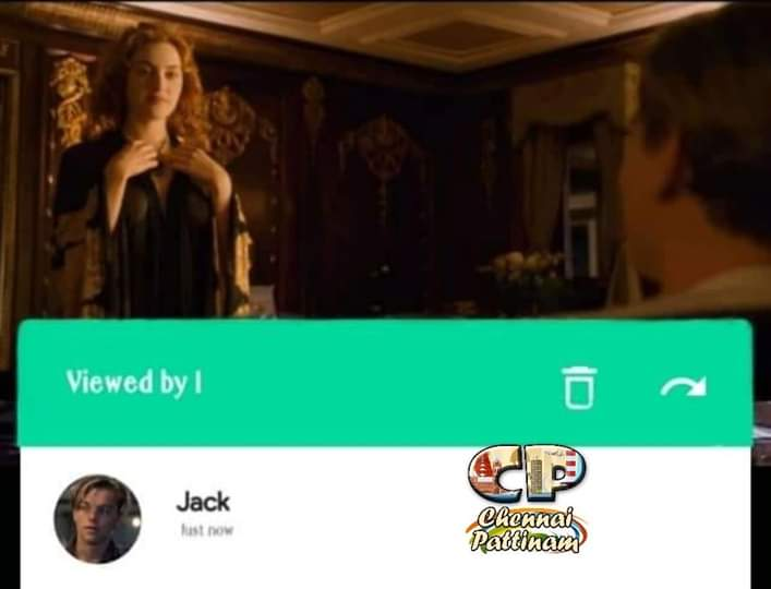 Viewed by Jack meme Titanic Movie Rose whatsapp status