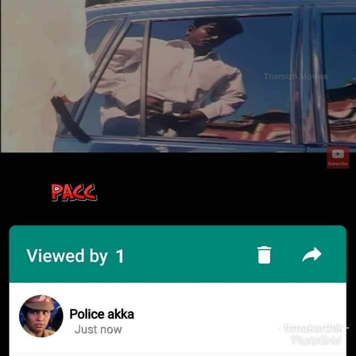 Viewed by police Akka meme Thamizhan Movie surya whatsapp