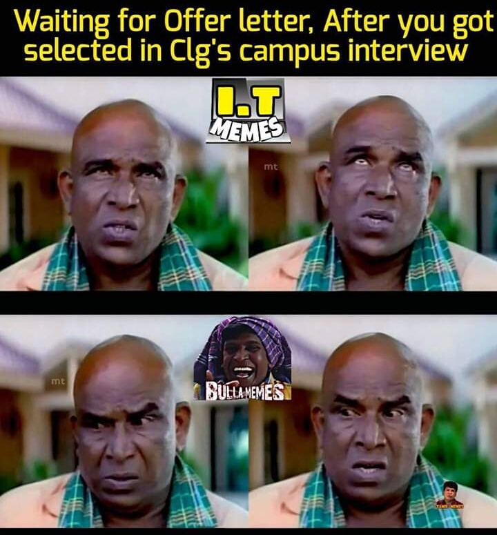 Waiting for offer letter, after you got selected in college campus