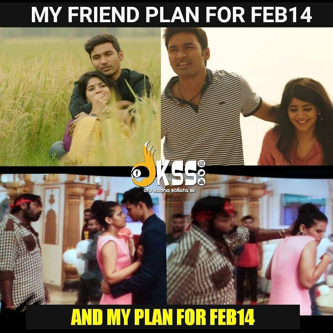 Committed vs singles plan for february 14 meme tamil memes