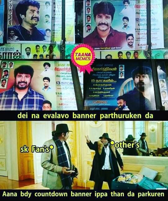 Sivakarthikeyan Birthday Countdown Banner From His Fans Meme Tamil