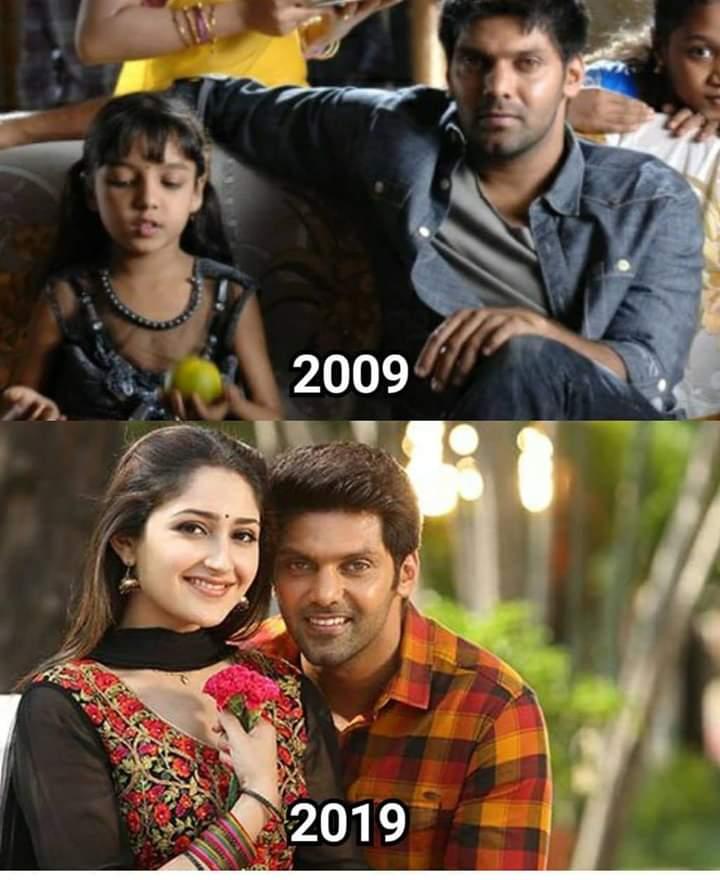 Actor Arya And Sayyeshaa Meme 10 Years Of Challenge Tamil Memes