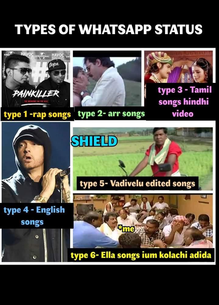 Types Of Whatsapp Status Meme Tamil Memes