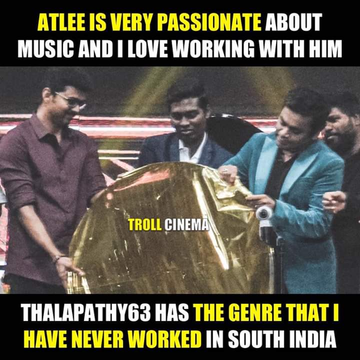 Ar Rahman About Director Atlee Meme Tamil Memes