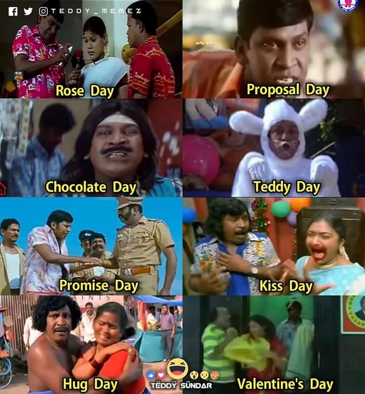 Valentines Days Of Vadivelu Version Be Like Meme Tamil Memes