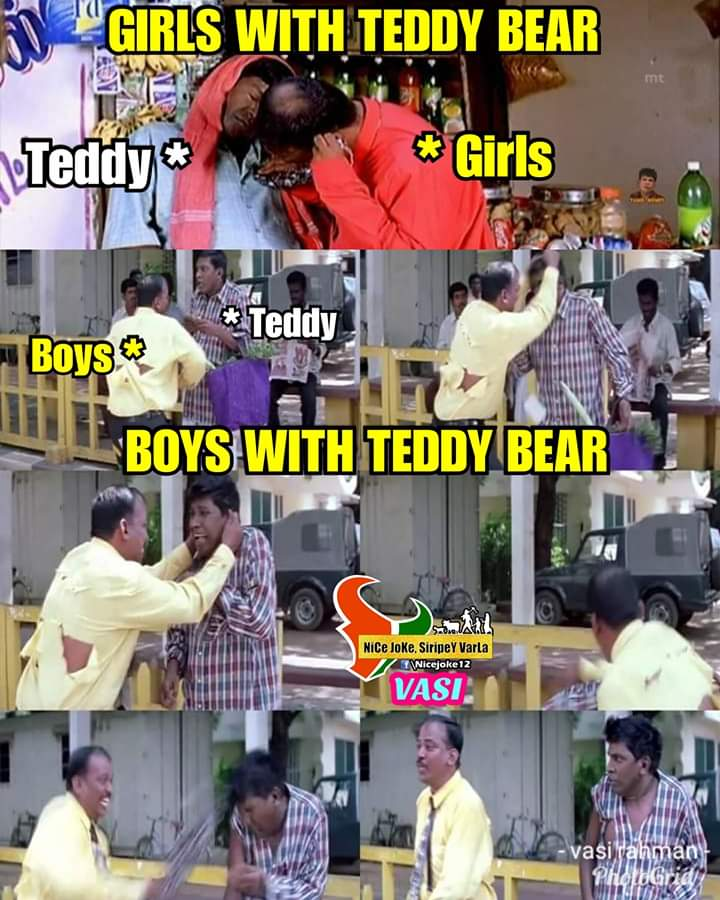 Boys Vs Girls With Teddy Bear Be Like Meme Tamil Memes