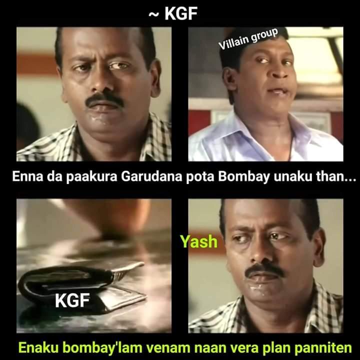 Kgf Movie story yash Rocky plan meme - Tamil Memes